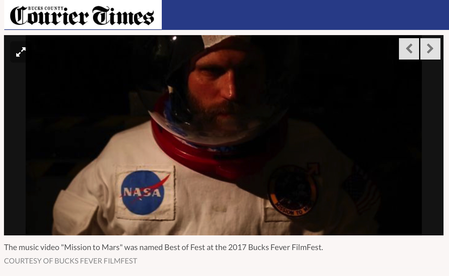 Coverage of 'Mission to Mars' in the Bucks County Courier Times.